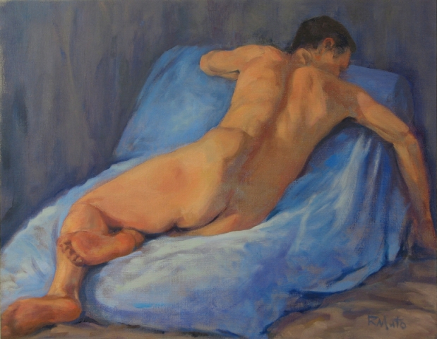 """Ed in Repose"" oil on panel 12"" x 16"""